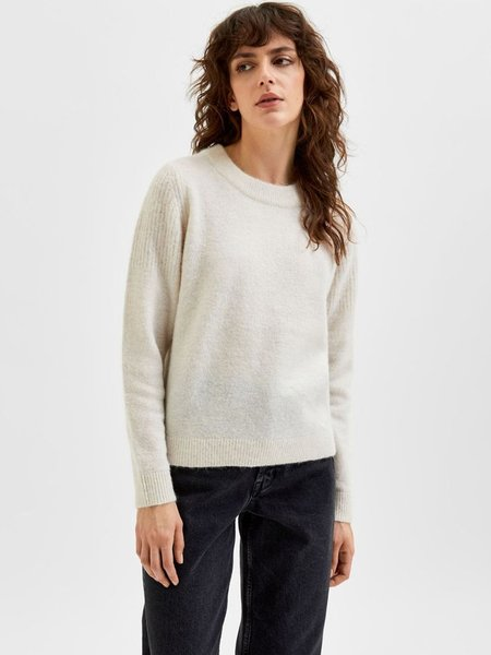 Selected Femme Sia Knit - Snow White
