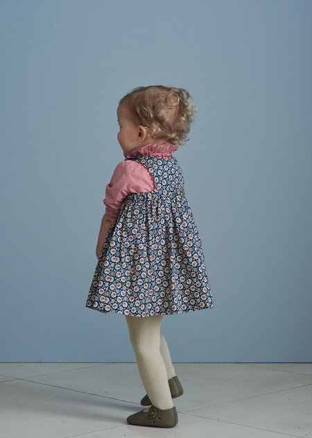 Kids Caramel Jupiter Baby Dress - Navy Flower
