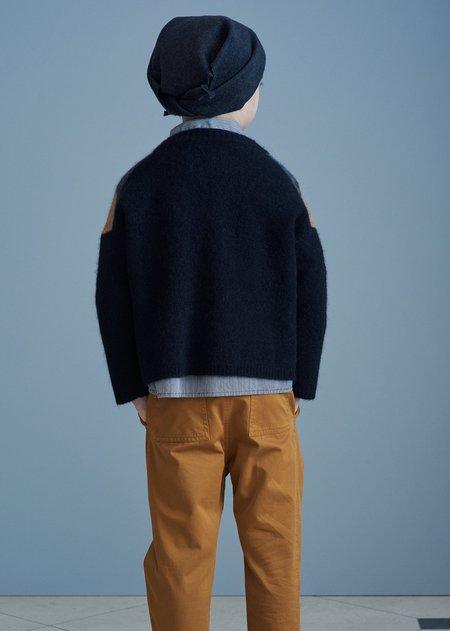 Kids Caramel Leda Trousers - Mustard Twill