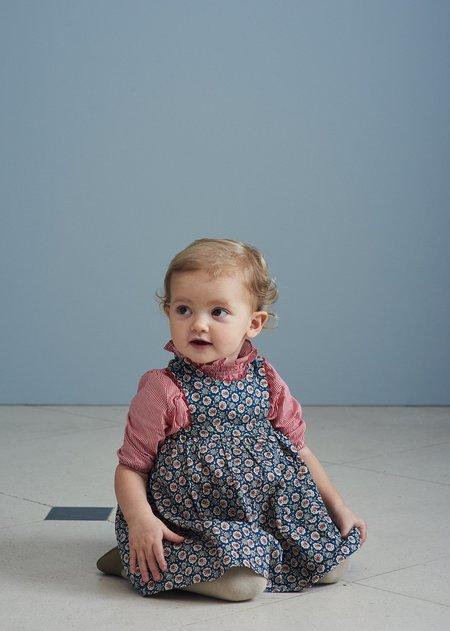 Kids Caramel Miron Baby Blouse - Red Stripe
