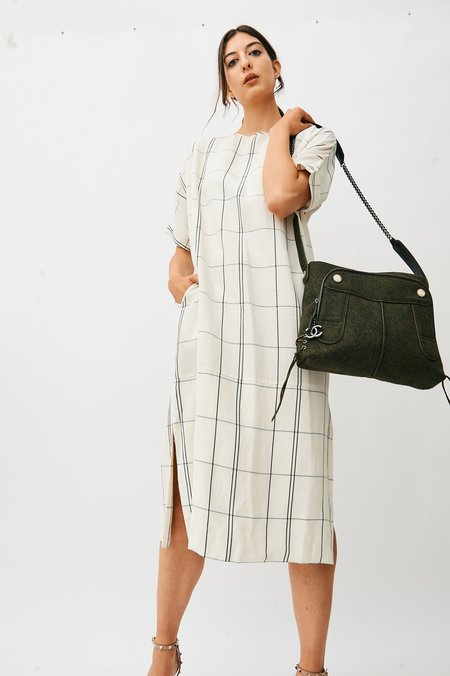 [Pre-loved] Chanel Quilted Handbag - Olive Green