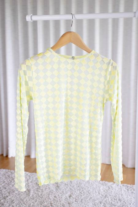 Baserange Omo Long Sleeve Tee - Hewa Yellow