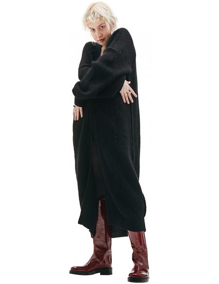 Y's Mohair & Wool Long Cardigan