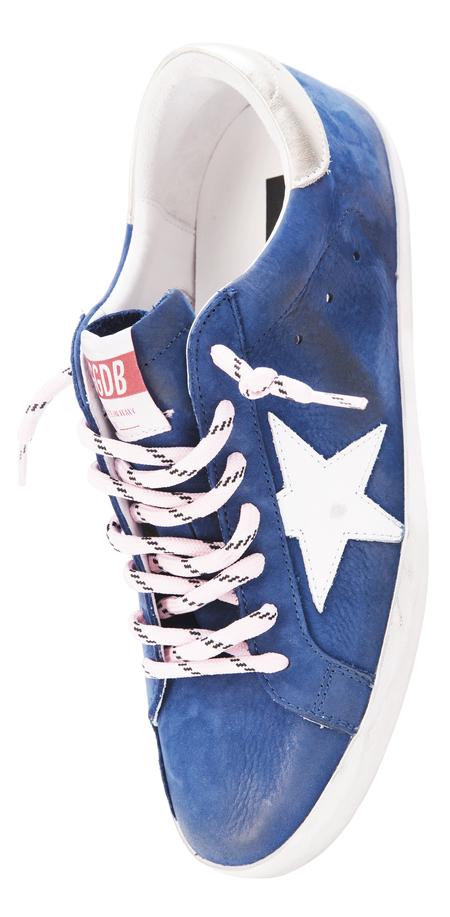 Golden Goose Navy Leather Superstar Sneakers