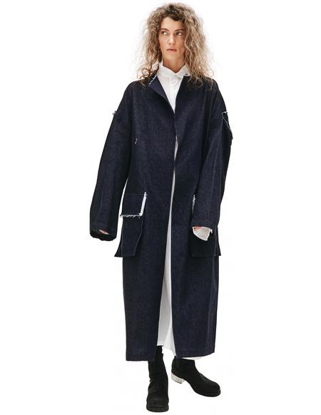 Y's Navy Denim Coat