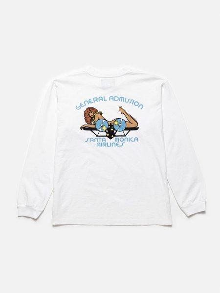 General Admission Aloha Plane Long Sleeve Tee - White