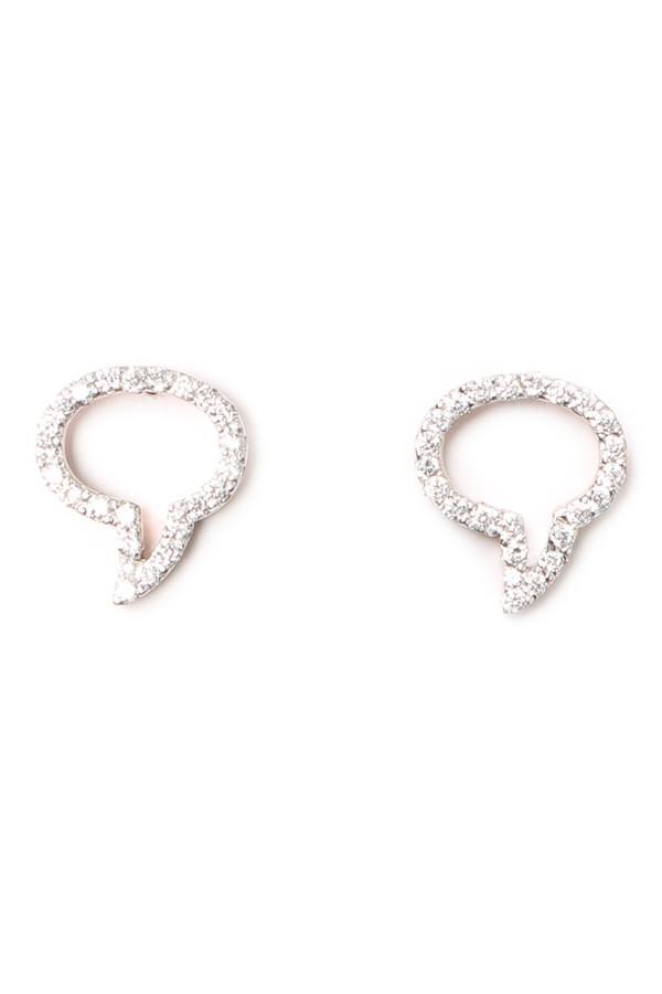 Aamaya by Priyanka Speech Bubble Earrings
