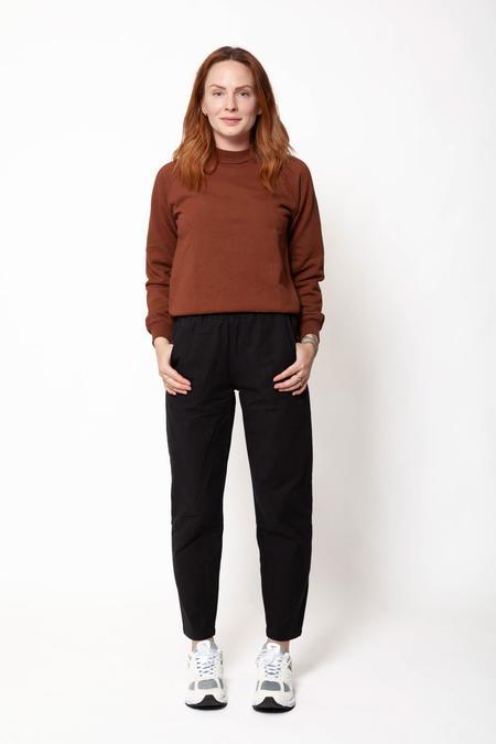 Gravel & Gold Volta Cotton Pant - Black