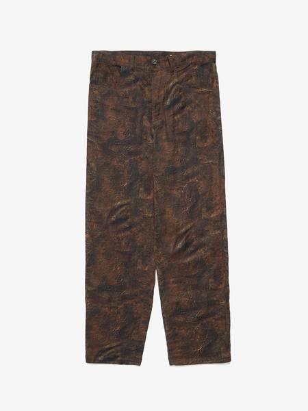 PRE-LOVED Yohji Yamamoto Leather Grain Printed Suit Trousers - Brown