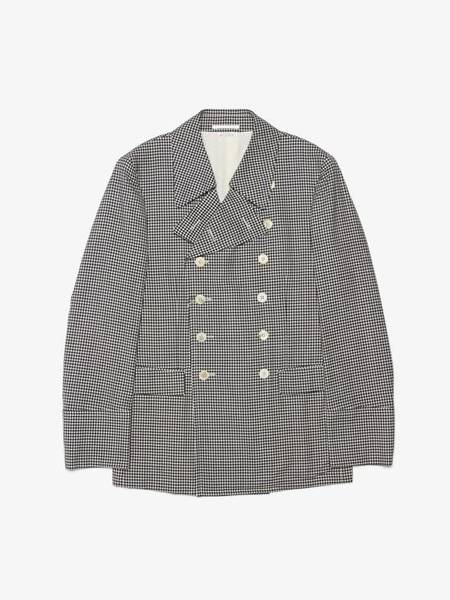 Comme Des Garcons Homme Plus Checked Wool Suit Peacoat - black/White