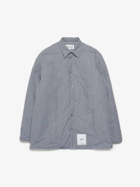 PRE-LOVED Maison Margiela Puffer Checkered Overshirt - White/black