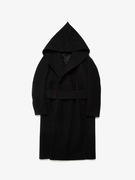 Rick Owens M FW11 Limo Navy Hooded Lab Coat
