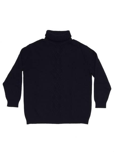 Pre-loved Dries Van Noten Turtle Neck Sweater - black
