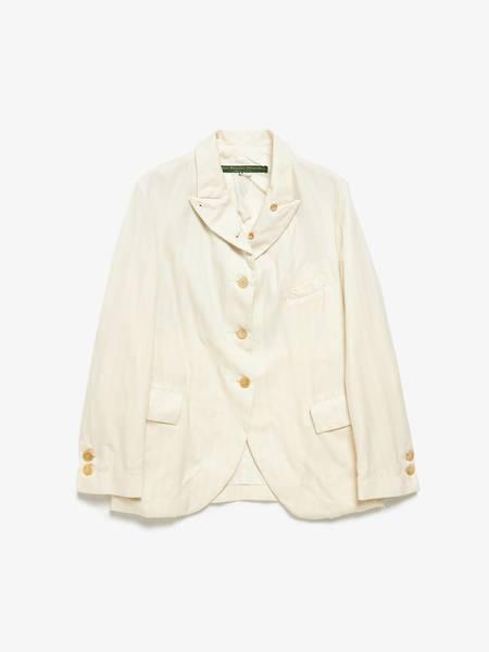 Paul Harnden Shoemakers Pinstriped Wool Jacket - Milk