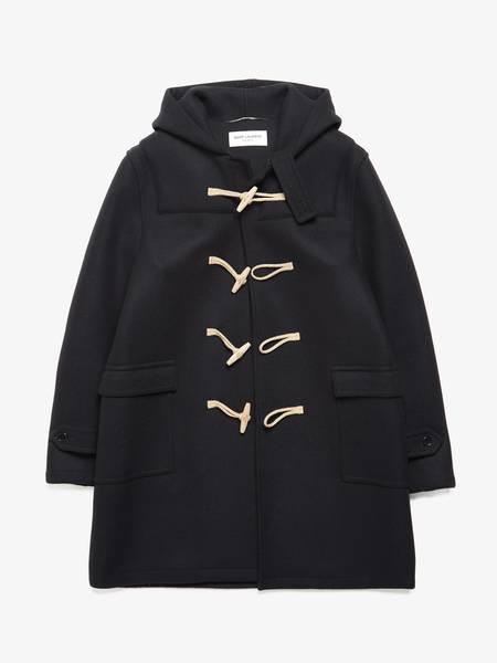 [Pre - Loved] Saint Laurent Paris Wool Duffle Coat - Black