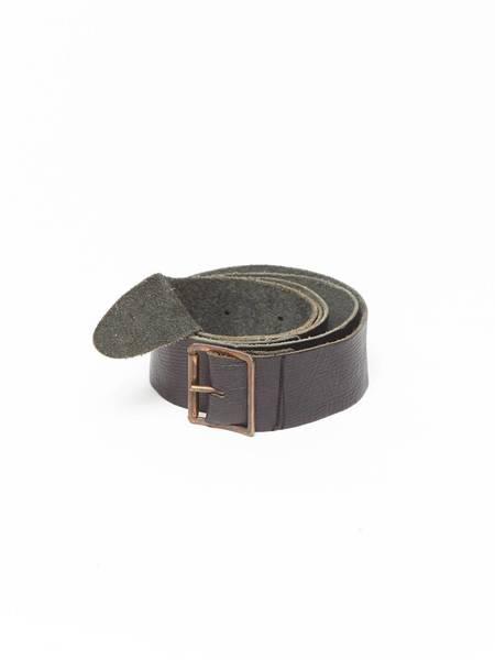 Pre-Loved Paul Harnden Shoemakers Black Leather Belt