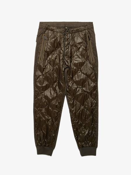 Moncler Cotton Quilted Chino Pants - Khaki/Black