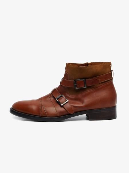 pre-loved Maison Margiela Monki  Leather Сhelsea Boots - Brown