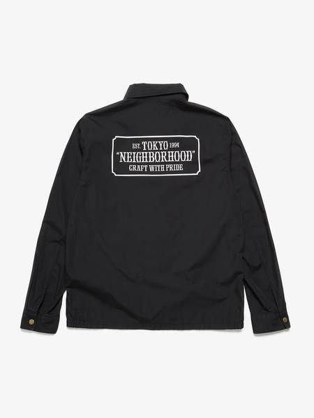 [Pre-Loved] Neighborhood Male Back Printed Black Trucker Jacket