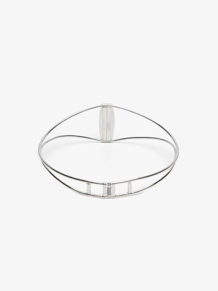 pre-loved Maison Margiela Metal Waist Magnet Belt - Silver