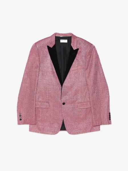 [Pre-Loved] Saint Laurent Paris Male Glitter Pink Suit Blazer-Pink