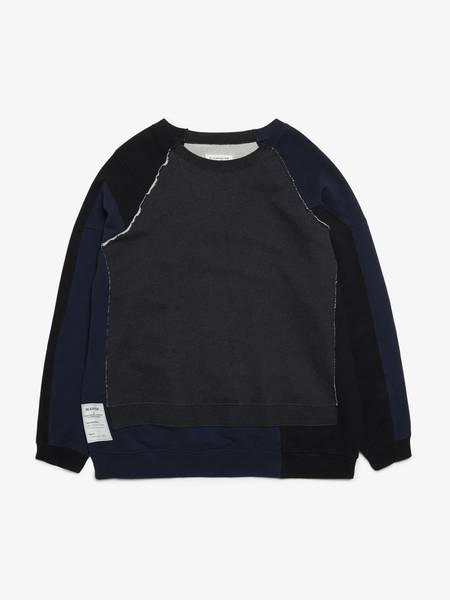 Maison Margiela Navy And Dark Gray Cotton Sweatshirt