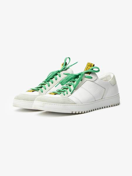 [Pre-Loved] Off-White Male White Leather Logo Low Top Sneakers
