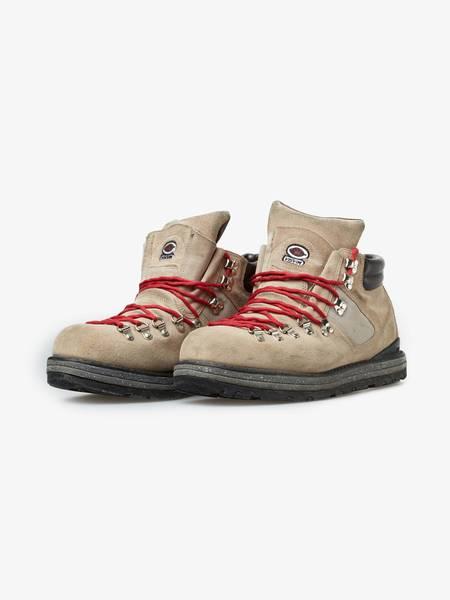 [Pre Loved] Visvim  Laced Suede Hiking Boots - Beige/Red