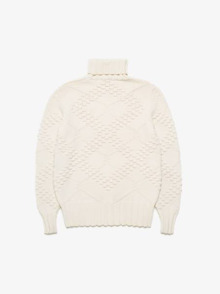 [Pre-Loved]  Versace Male Cream Cable Wool Sweater