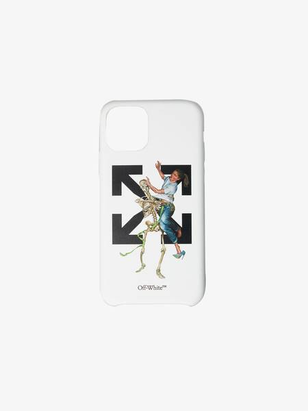 [Pre-Loved] Off-White Male iPhone 11 Pro White Printed Case