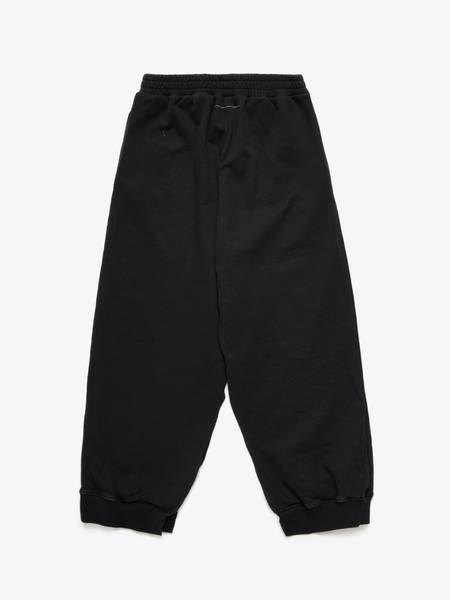 [Pre - Loved] MM6 Cut Out Cotton Sweatpants - Black