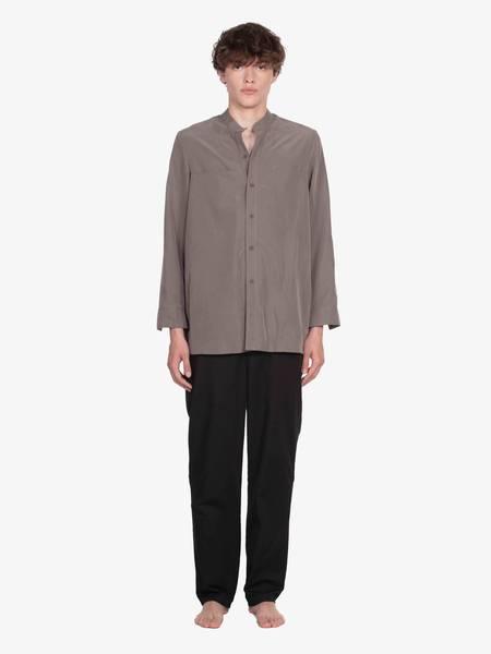 GRB PWR Mandarin Collar Fake Pocket Shirt - Beige
