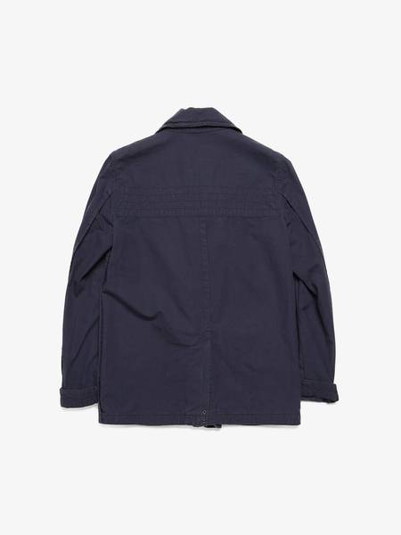 PRE-LOVED Undercover Patched Cotton and Linen Blend Peacoat - navy
