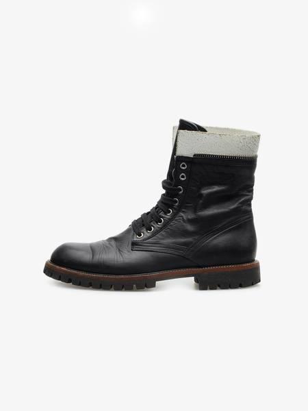[Pre - Loved] Dries Van Noten Leather Combat Boots - Black