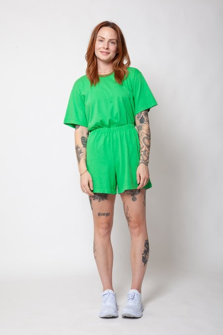 Gravel & Gold Jersey Shorts - Bisi Green