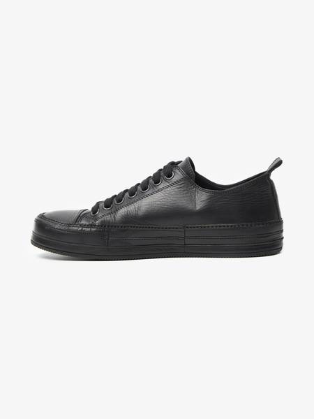 [Pre - Loved] Ann Demeulemeester Male Leather Low Top Sneakers - Black