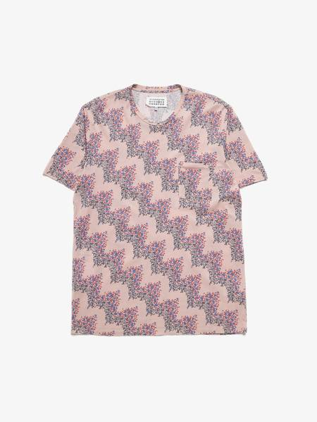 PRE-LOVED Maison Margiela Abstract Printed Cotton T-shirt - PINK