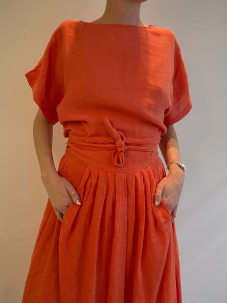 Black Crane- Wrap skirt