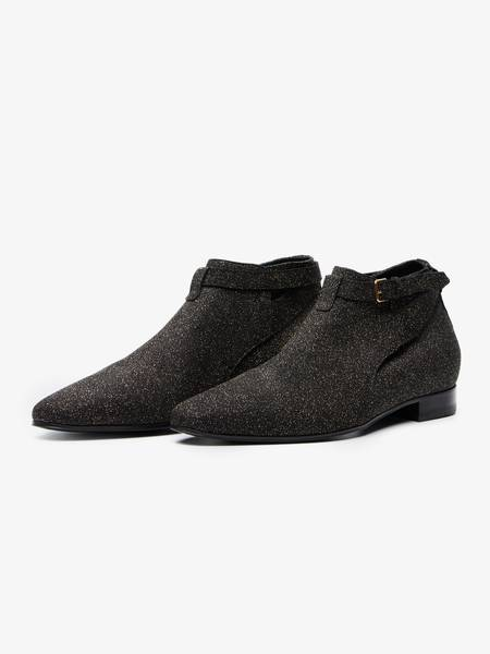 [Pre - Loved] Saint Laurent Paris AW 13 Glitter Cropped Jodhphur Boots