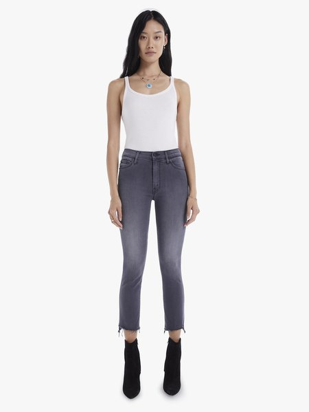 Mother Denim The Insider Crop Step Fray in Dancing In The Moonlight Jeans