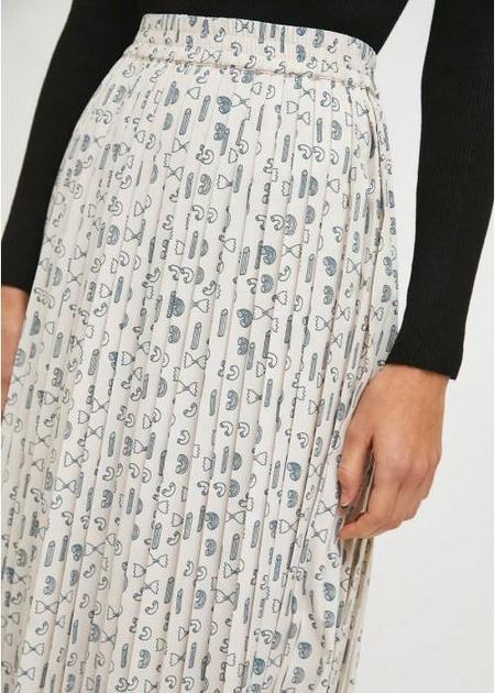 Compañia Fantastica Geometric Pasta Pleated Skirt