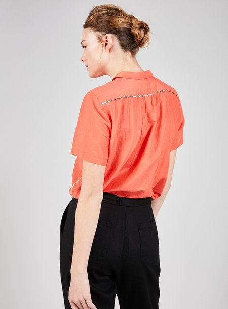 cotelac Cotton and silk shirt - COQUELICOT