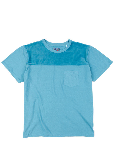 Blue Blue Japan Knitted Zimbabwe Cotton Velour Cutover SS Tee