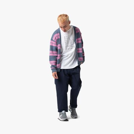 Pop Trading Company Captain Knitted Cardigan - Anthracite/Pink