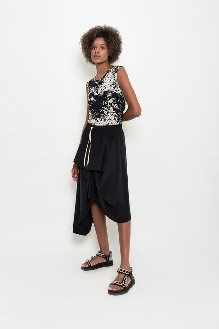 UMA Raquel Davidowicz Cotton Jersey Draped Skirt - Mexilhão