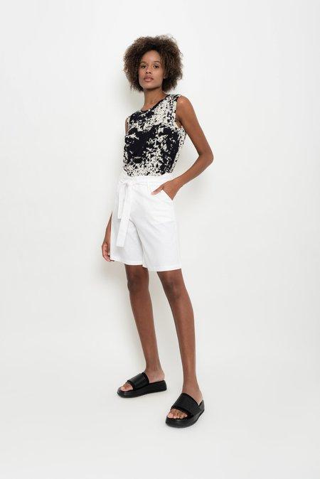 UMA Raquel Davidowicz Linen With Belt Shorts  - Escama