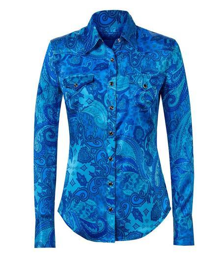 COUT DE LA LIBERTE ROSIE SILK Shirt - R. BLUE