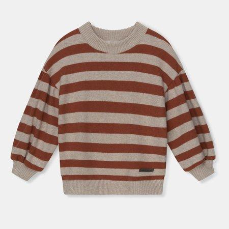Kids My Little Cozmo Marta Striped Sweater - Brown