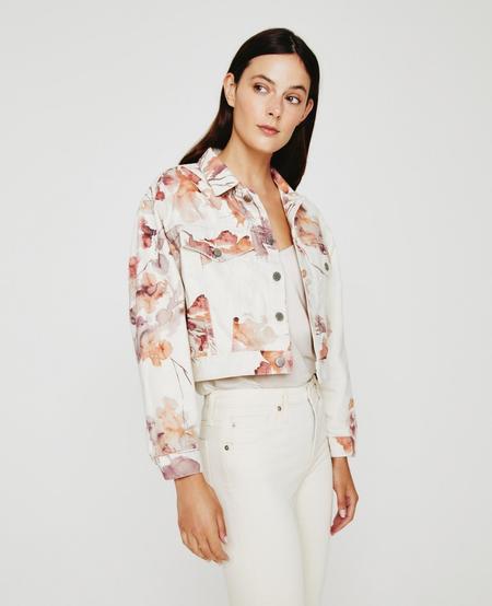 AG Jeans Mirah Jacket - Wine Floral Neutral