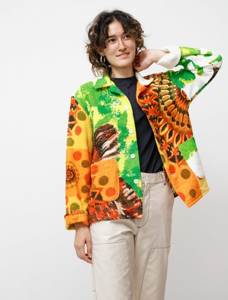 BODE Duo Towel Jacket - Orange/Green